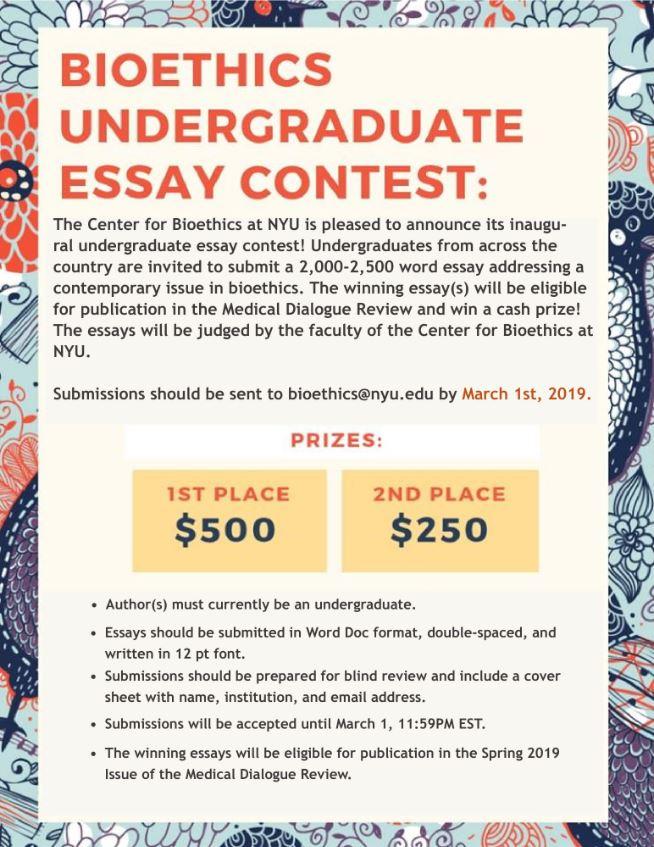 Environmental essay contest
