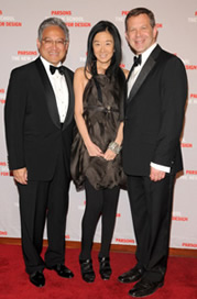Dr. William K. Fung, Vera Wang, and Parsons Dean Joel Towers