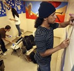 Pediatric waiting room at Brookdale Medical Center undergoes colorful make-over from high school seniors in the Parsons Pre-College Scholars Program