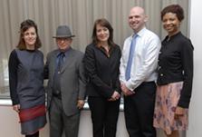 From left: Jennifer McHugh, Carlos Sepulveda, Jennifer Smith, Robert McAlpin, and Janelle McKenzie