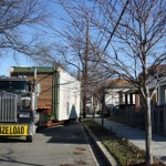 The Empowerhouse arrives at its final destination in the Deanwood neighborhood of Washington, D.C.