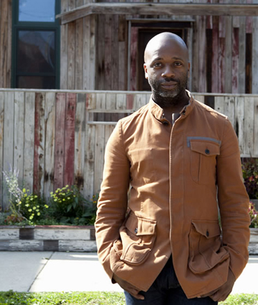 Theaster Gates, winner of the 2013 Vera List Center Prize for Art and Politics, will speak at The New School on September 18. Photo courtesy of the artist.