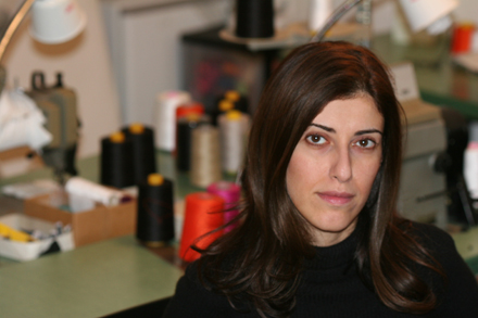 Behnaz Sarafpour, being awarded the Cooper-Hewitt National Design Award for fashion. Photo by Behnaz Sarafpour.