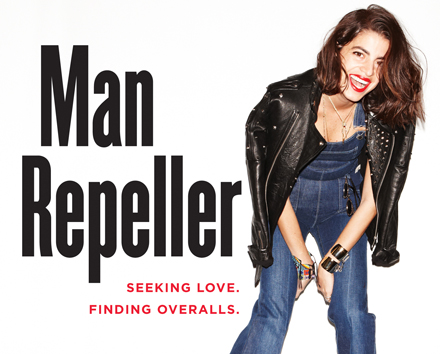 "The book cover from Leandra Medine's book ""Man Repeller: Seeking love. Finding Overalls."" The Eugene Lang College alumna made the 2013 Forbes ""30 Under 30"" list for the second year in a row."