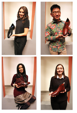 The students in the 2014 Allen Edmonds competition were (clockwise from top L): Elizabeth Gordon, Rheza Tanudihardjo, Michelle Brown, and Hannah Smith.