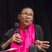 bell hooks at The New School. Photo by Spencer Kohn, 2013.