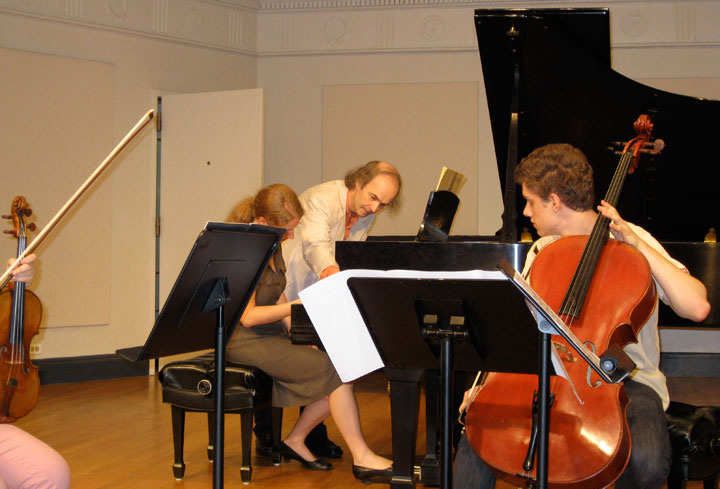 Institute and Festival for Contemporary Performance director Marc Ponthus coaching a rehearsal.