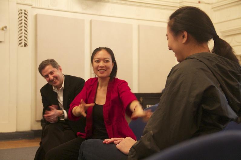 Jen Shyu with Richard Kessler teaching one of Mannes' Stone Workshops
