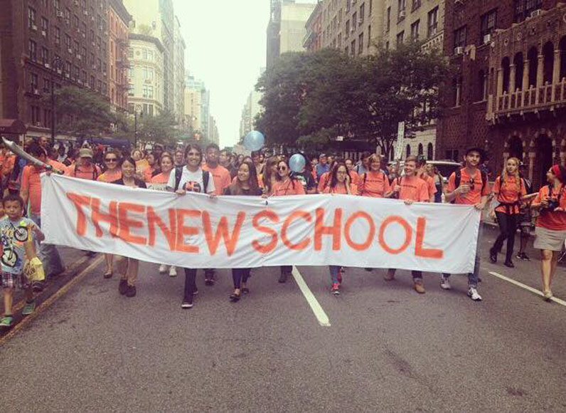 New School students and faculty particpated in the Climate Action March last year.
