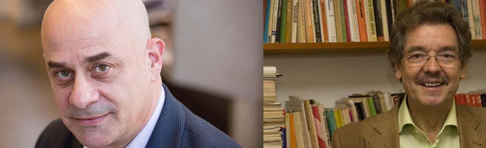 NSSR dean William Milberg and economics professor Willi Semmler
