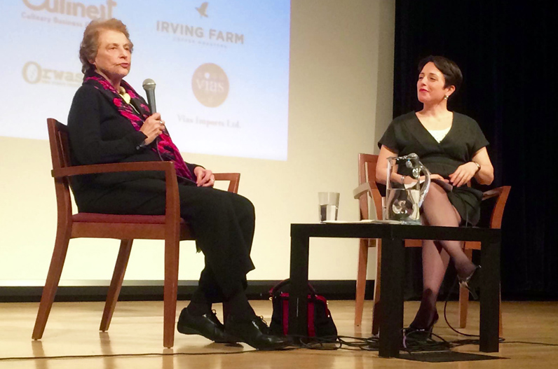 Mimi Sheraton—an influential journalist, restaurant critic, and cookbook writer who has lived in Greenwich Village for 70 years—gave the keynote address at Gotham on a Plate.