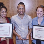 Award Recipients Aliyah Hakim, Nathaniel Phillipps, and Eli Condon