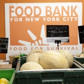 Corbin Hill Farmshare distribution site at the Harlem Foodbank.