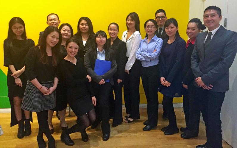 Parsons students at Fundamentals in Luxury Retail Internship/Recruitment Day.
