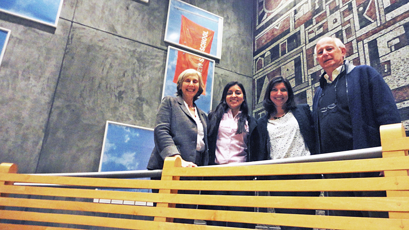Margarita Gutman, Associate Professor of Urban Studies and International Affairs; Kirchner Fellows Analía Calero and Magdalena Bas Vilizzio; and Michael Cohen, Director of the Studley Graduate Program in International Affairs.