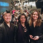 Mochi Liu (Architecture '15), Haitian designer Paula Coles  and Amanda Evengard (Product Design '15)