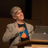 Colleen Macklin, Associate Professor of Media Design in the School of Art, Media, and Technology, was a Keynote Speaker.
