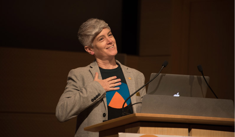 Colleen Macklin, Associate Professor of Media Design in the School of Art, Media, and Technology, was a Keynote Speaker.
