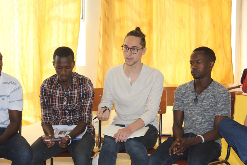 Jamey participating in an experiential human rights delegation organized by Global Youth Connect in Kigali, Rwanda.