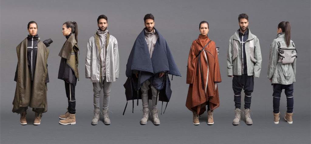 Luna's collection features a coat that transforms into a tent, among other useful items for Syrian refugees. Photo by Jessica Richmond