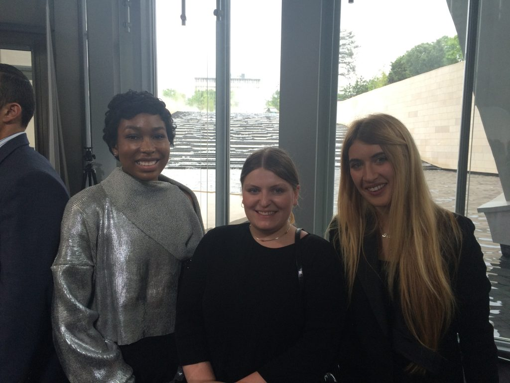 Ayo Keys in Paris with the other two winners of the Graduates Prize from LVMH