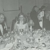 Melvin Dwork, third from left, at a fundraising event for Parsons in 1969. (Photo/New School Archives)