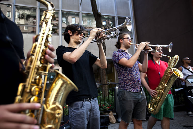 School of Jazz students performed live music at last year's block party.