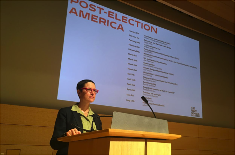 Jessica Pisano, Associate Professor of Politics at The New School for Social Research, introduces the Post-Election America series.