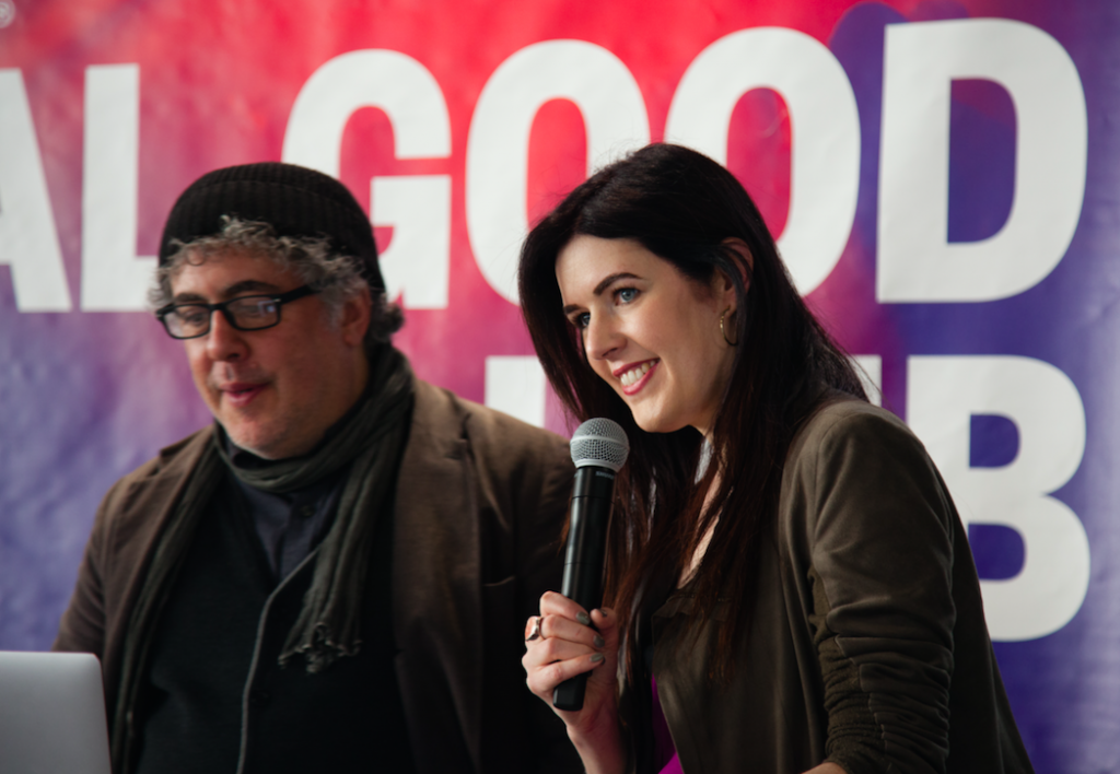 Photojournalist Ron Haviv and Lauren Walsh, a faculty member at Eugene Lang College, discussed Lost Rolls America at SXSW. (Photo/Ryan Blum)