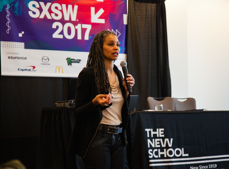 Maya Wiley — civil rights activist, former counsel to the Mayor of New York City and vice president of social justice at The New School — offered policy solutions to close the digital divide at #SXSW. (Photo / Ryan Blum)