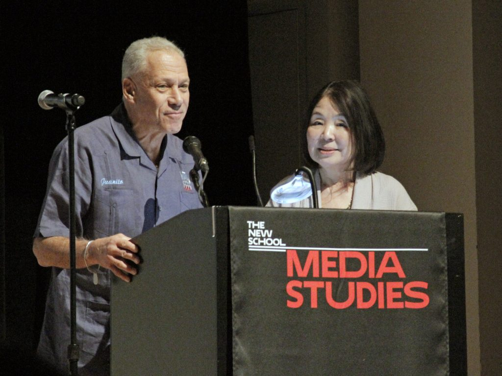 Jon Alpert and Keiko Tsuno, founders of Downtown Community Television Center, spoke on their life and work at Five Decades of Community Media from Canal Street to Cuba. (Photo / Red Dog Productions)