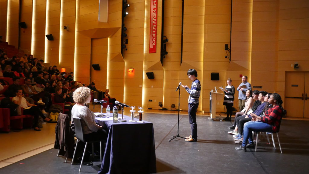 The first-ever spELLing bee, a competition between students from The New School and Pace University, took place in April.