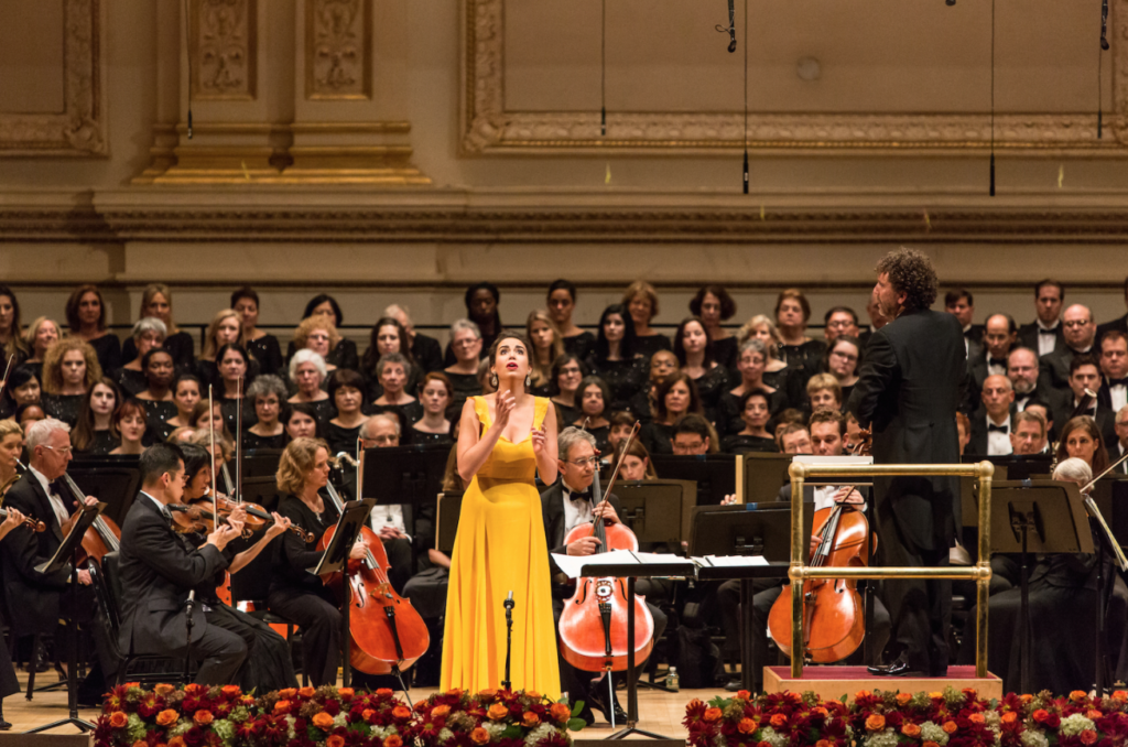 Performing at the Richard Tucker Gala in 2016.