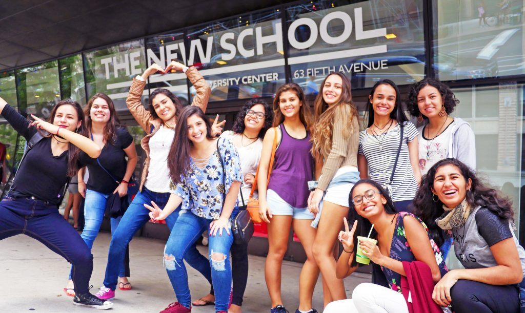 The New School's English Language Studies department hosted 11 Brazilian students for itsinaugural Pre-College Intensive English Program.