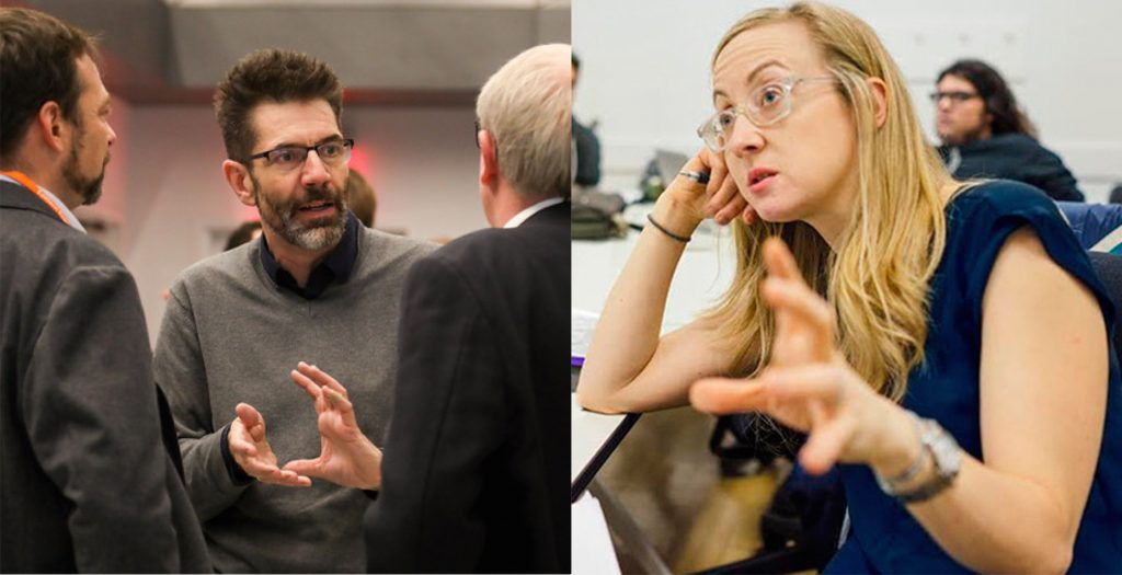Mark Setterfield, Professor and Chair of Economics at The New School for Social Research, and Julia Ott, Associate Professor of History and co-director of the Heilbroner Center at NSSR.