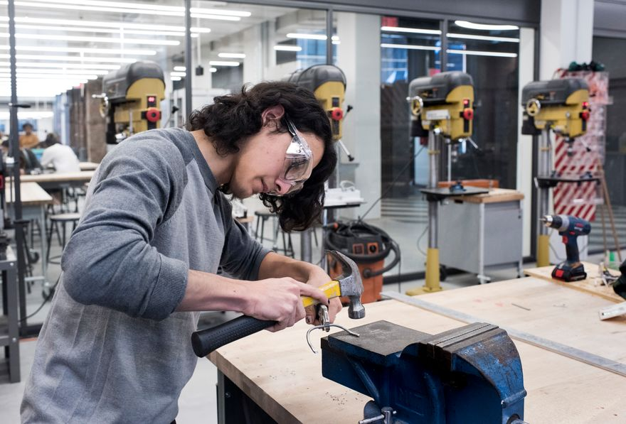 Working with the historic French furniture brand Roche Bobois, students at The New School's Parsons School of Design will engage advanced prototyping and material technology at the Making Center to design and prototype functional, full-scale seating devices (Photo/Matt Mathews).