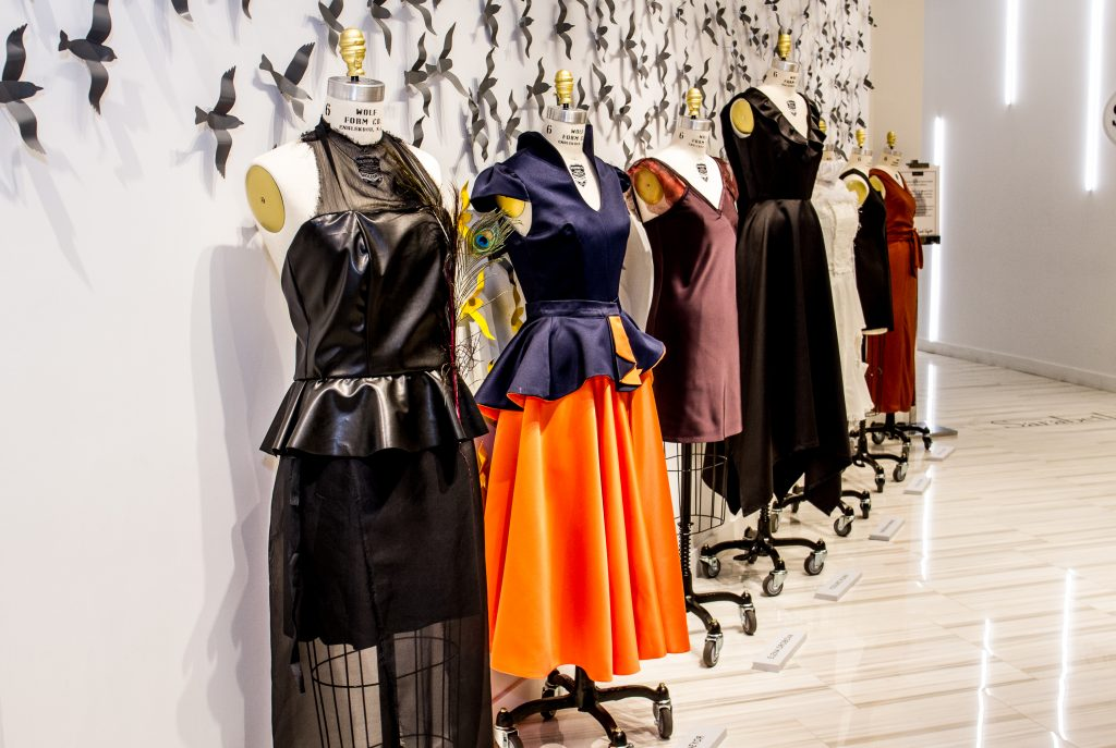 Parsons at open campus designers showcase dresses at lord Fashion designing schools