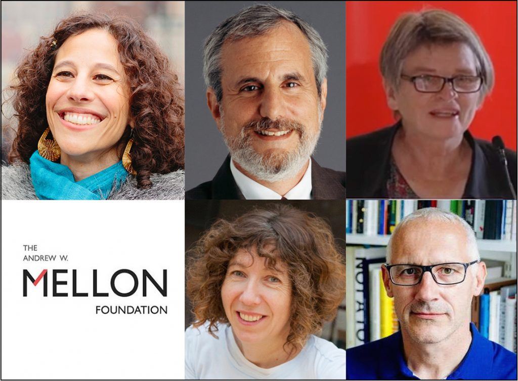 Clockwise from left: Miriam Ticktin, associate professor and chair of anthropology at The New School for Social Research; Alex Aleinikoff, director of the Zolberg Institute Director on Migration and Mobility; and Victoria Hattam, professor of politics at NSSR; and Fiona Raby and any Anthony Dunne, professors of design and social inquiry at Parsons School of Design will lead the Sawyer Seminars at The New School.