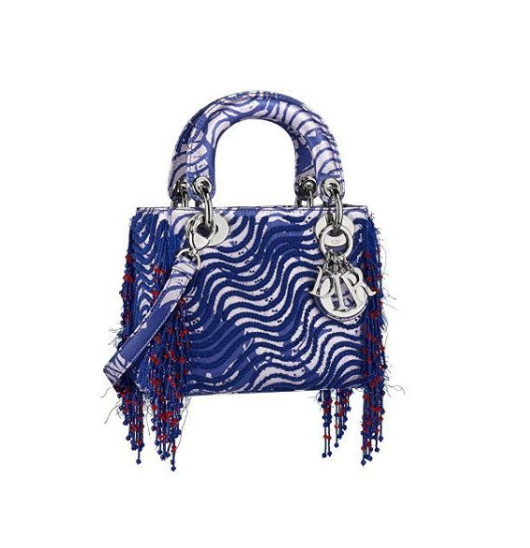 One of Okubo's designs for the Lady Dior bag by Christian Dior