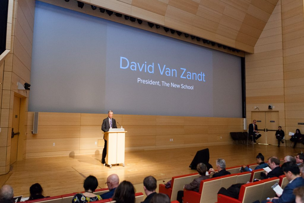 New School President David Van Zandt speaks at the RPA event (Photo / Brooke Saias Photography)