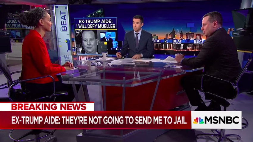 Maya Wiley, Senior Vice President for Social Justice at The New School, appears with former Donald Trump aide Sam Nunberg on MSNBC in March.