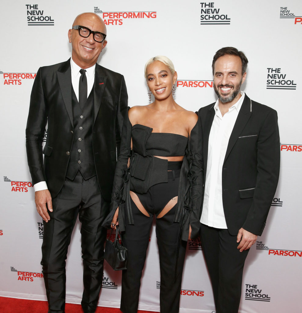 Honorees Marco Bizzarri, Solange Knowles, and José Neves
