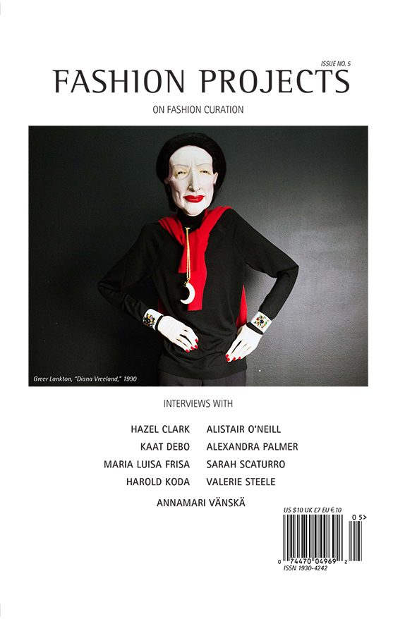 The cover of the 5th issue of Fashion Projects