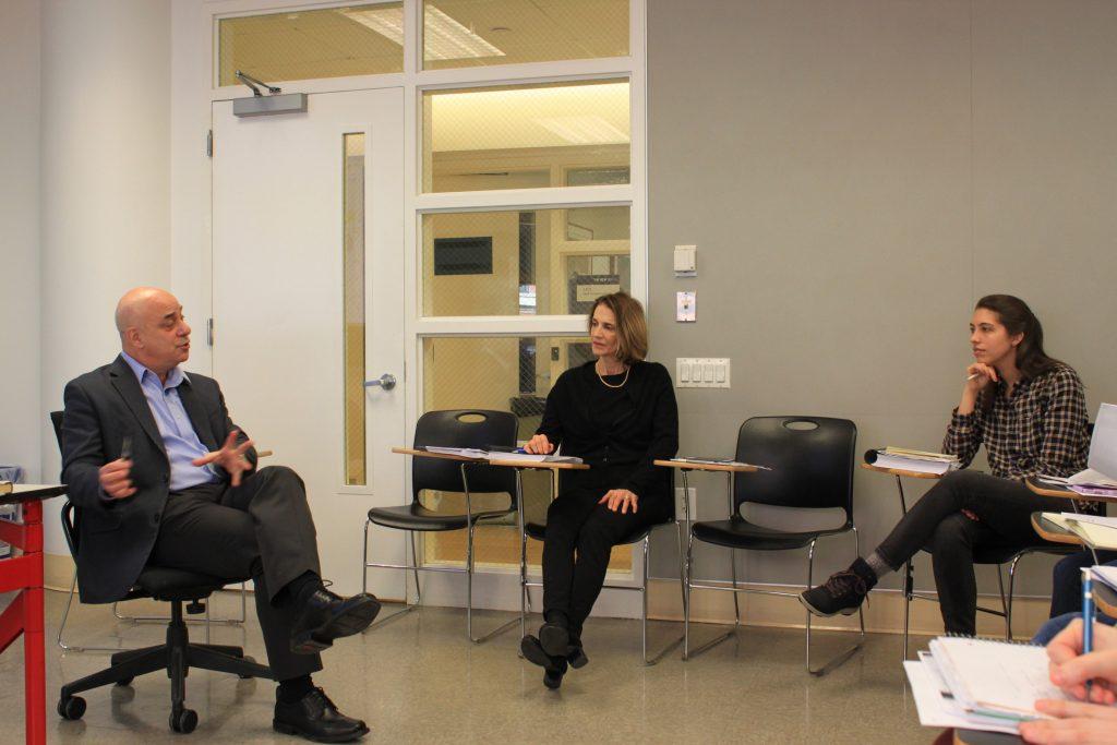 Will Milberg, NSSR Dean and Teresa Ghilarducci,  Bernard L Schwartz and Irene Schwartz professor of economics and policy analysis teaching the intensive National Economic Policy Analysis class.