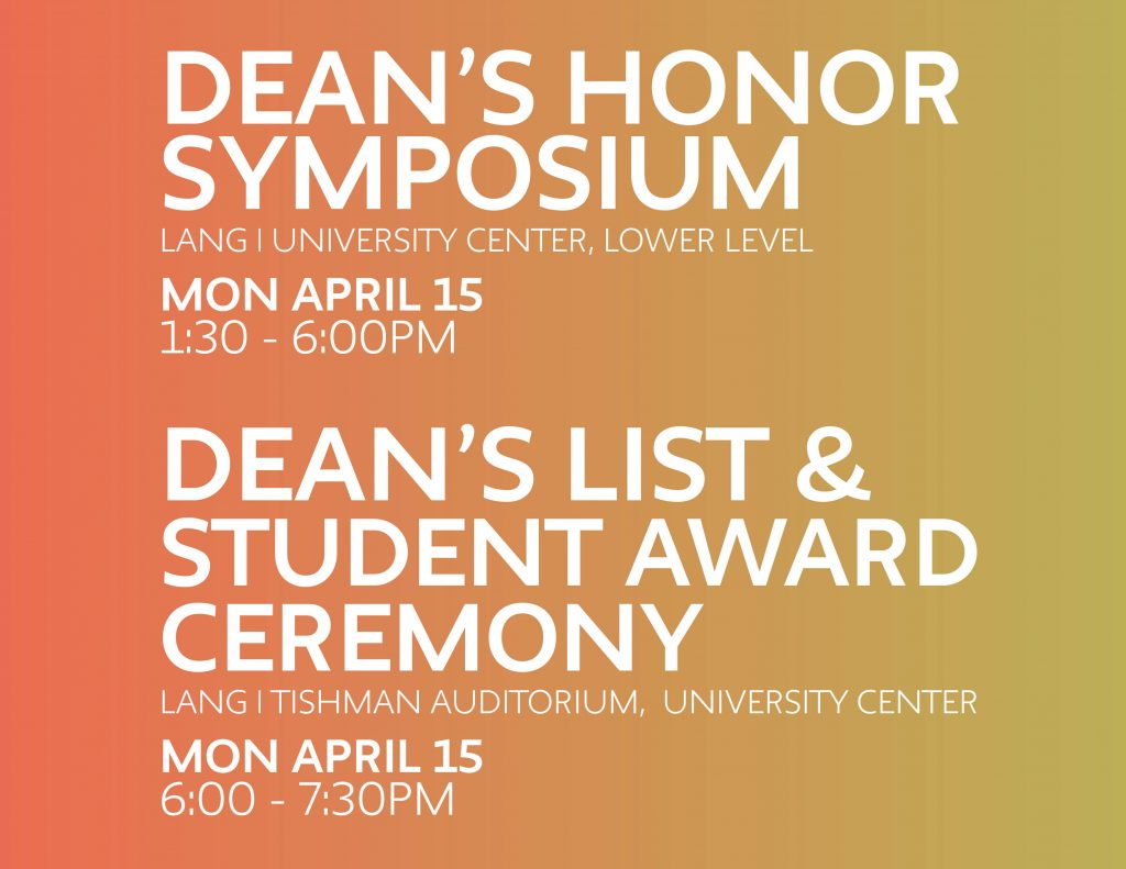 Deans Honor Symposium Flyer