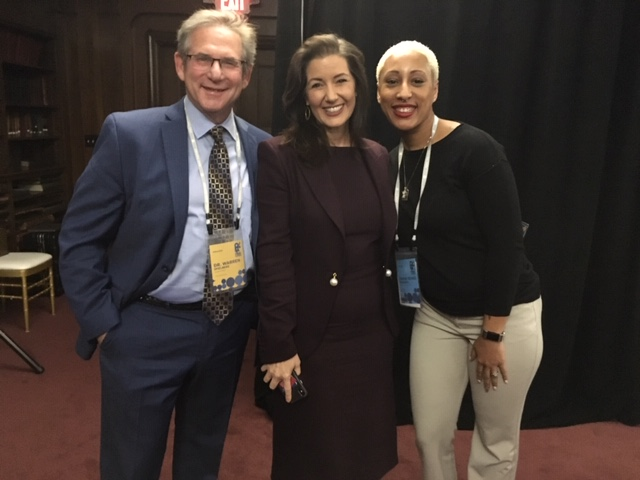 Professor Warren Speilberg at the My Brother's Keeper Conference with Oakland Mayor Libby  Schaaf and mayoral staff member.