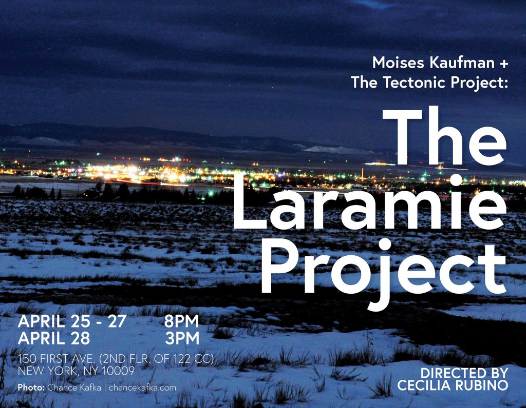 The Laramie Project presented by Lang Theater