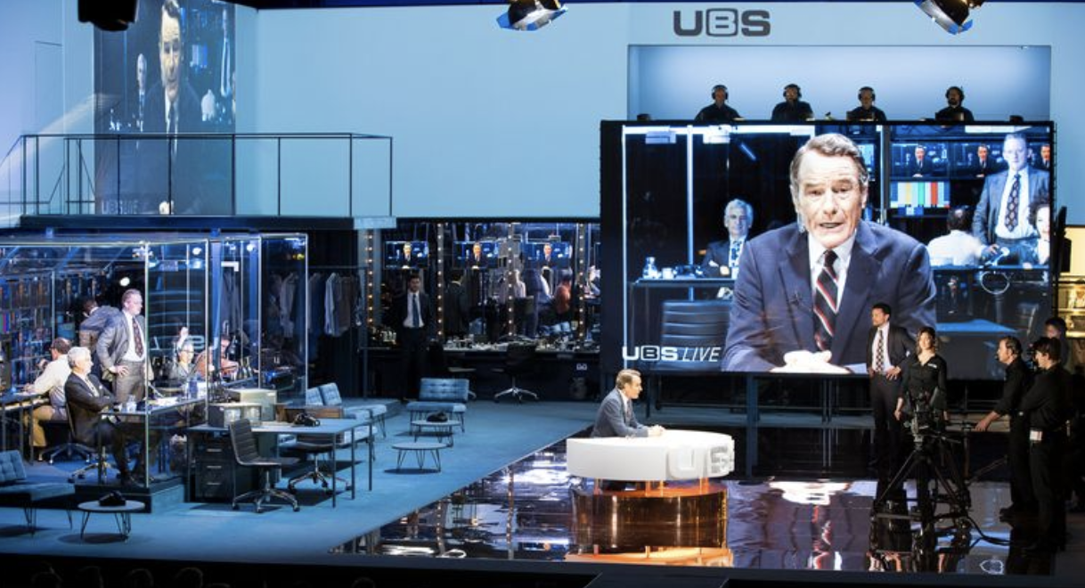 Network on Broadway, starring Bryan Cranston, with video design by Drama faculty member Tal Yarden