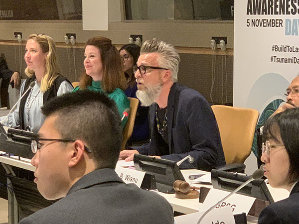 Dean Robert Kirkbride participating in UN panel on Word Tsunami Day.