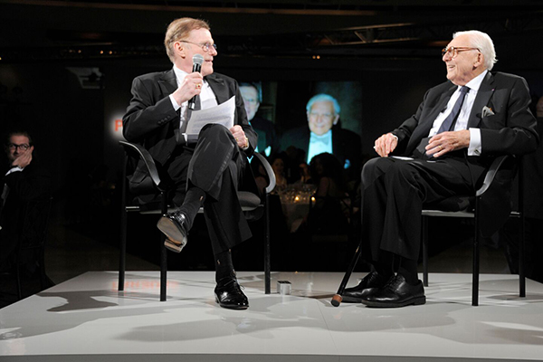 Arnold Aronson in conversation with Marvin Traub at the 2011 Parsons Fashion Benefit.